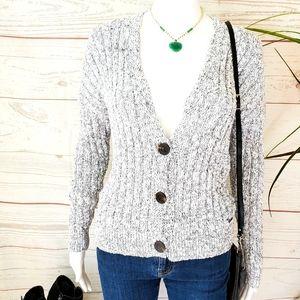 Abercrombie & Fitch marled yarn soft knit cardi